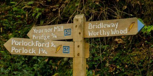 Signpost showing distances to locations